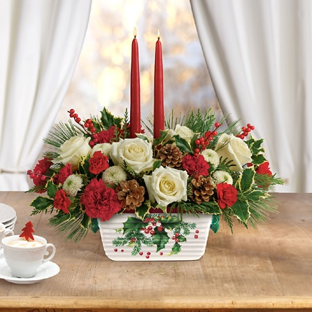 Hall of Holly Centerpiece