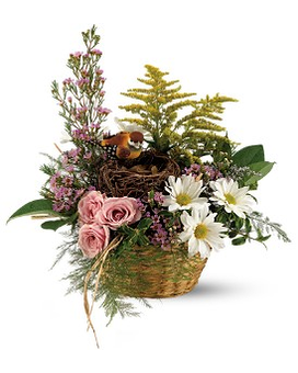 Teleflora's Nesting Basket Flower Arrangement
