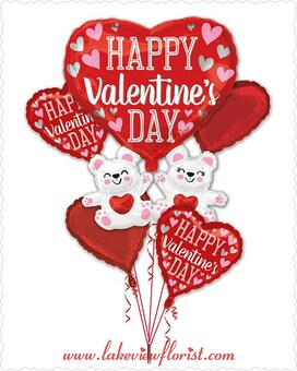 HVD Floating Bears Balloons Bouquet Custom product
