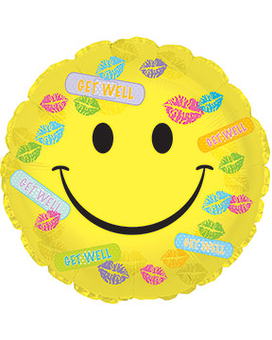 Get Well Band-Aids & Kisses Balloon Flower Arrangement