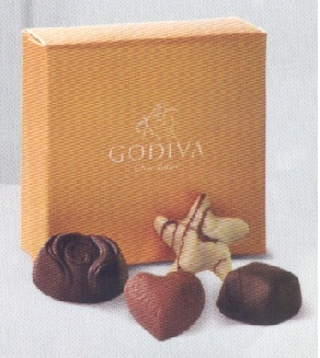 Godiva 4 pc. Chocolate Box