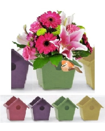 Our Birdhouse Bay Bouquet Flower Arrangement