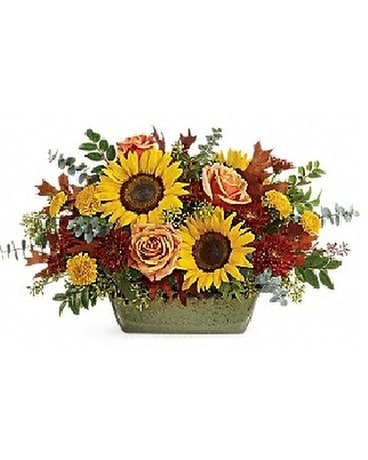 Summer Floral Casserole Bouquet Flower Arrangement