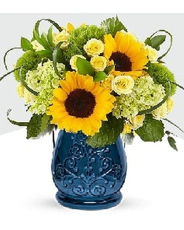 Our Sunflower Blue Lantern