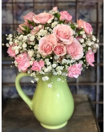 Pretty as a Pitcher Flower Arrangement