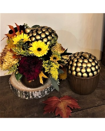 Acorn Centerpiece Flower Arrangement