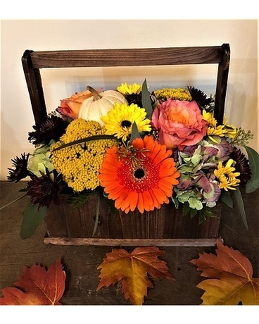 Hayride Centerpeice Flower Arrangement