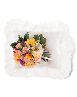 Spring Satin Pillow Cluster Flower Arrangement