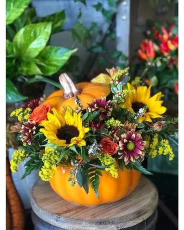 Pumpkin Love Flower Arrangement