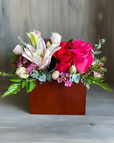 Love Box Flower Arrangement