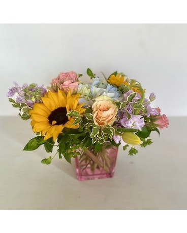 Summer Cube Flower Arrangement