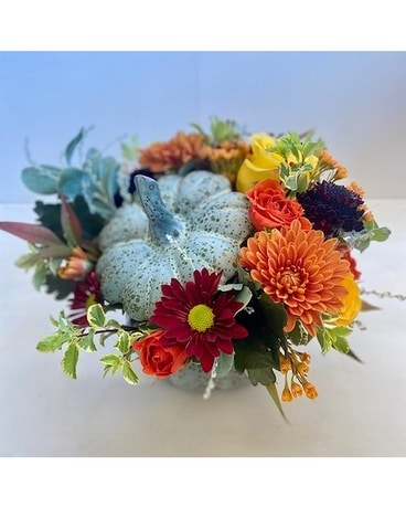 Harvest Pumpkin Centerpiece Flower Arrangement