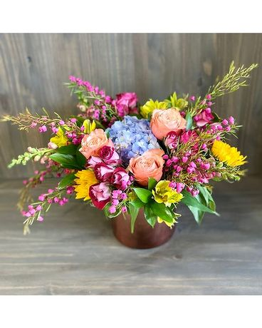 Rosy Wildflowers Flower Arrangement