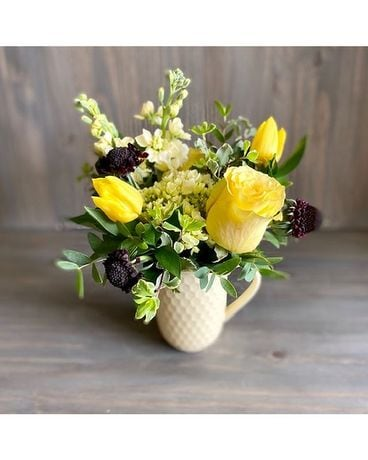 Bumble Bee Mug Flower Arrangement