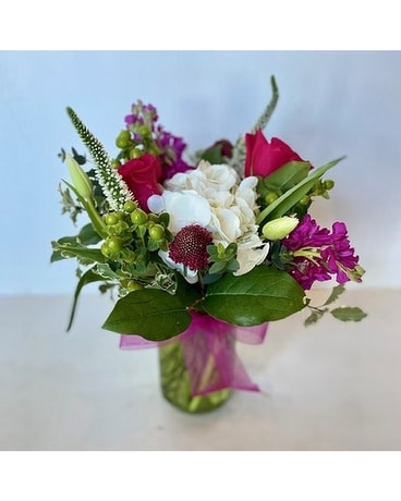 Green Mason Flower Arrangement