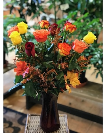 Autumn Rose Elegance by Country Greenery