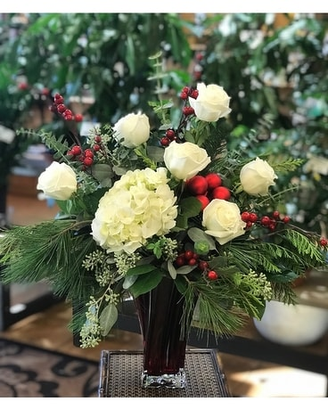 Joyous Holiday Flower Arrangement