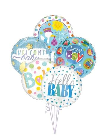 Baby Boy Balloon Bouquet Gifts
