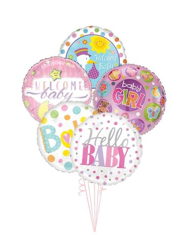 Baby Girl Balloon Bouquet Gifts