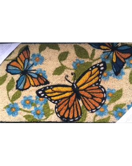 Butterfly Door Mat Flower Arrangement
