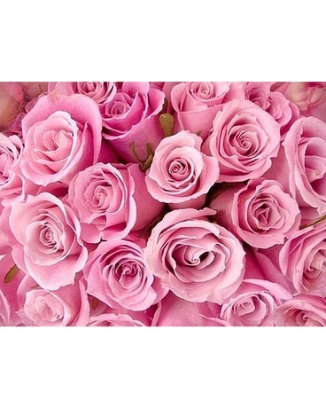Dozen Roses - Pink Flower Arrangement