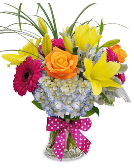 Cheerful Blooms Flower Arrangement