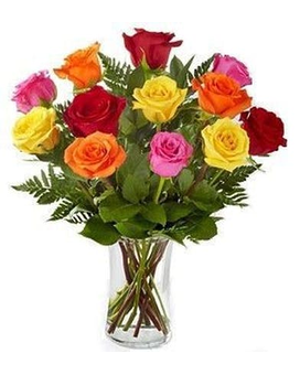Colorful Roses Flower Arrangement