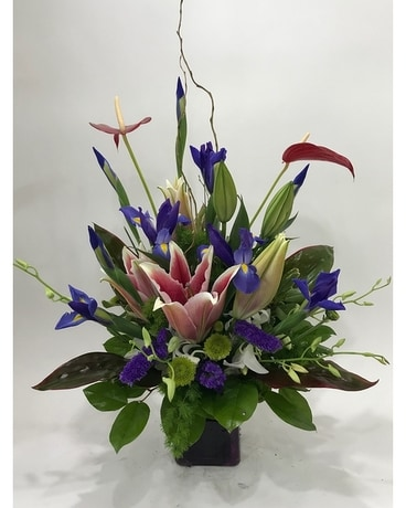 Blue Birds Flower Arrangement