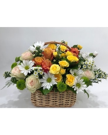 Sweet Thoughts Basket Basket Arrangement