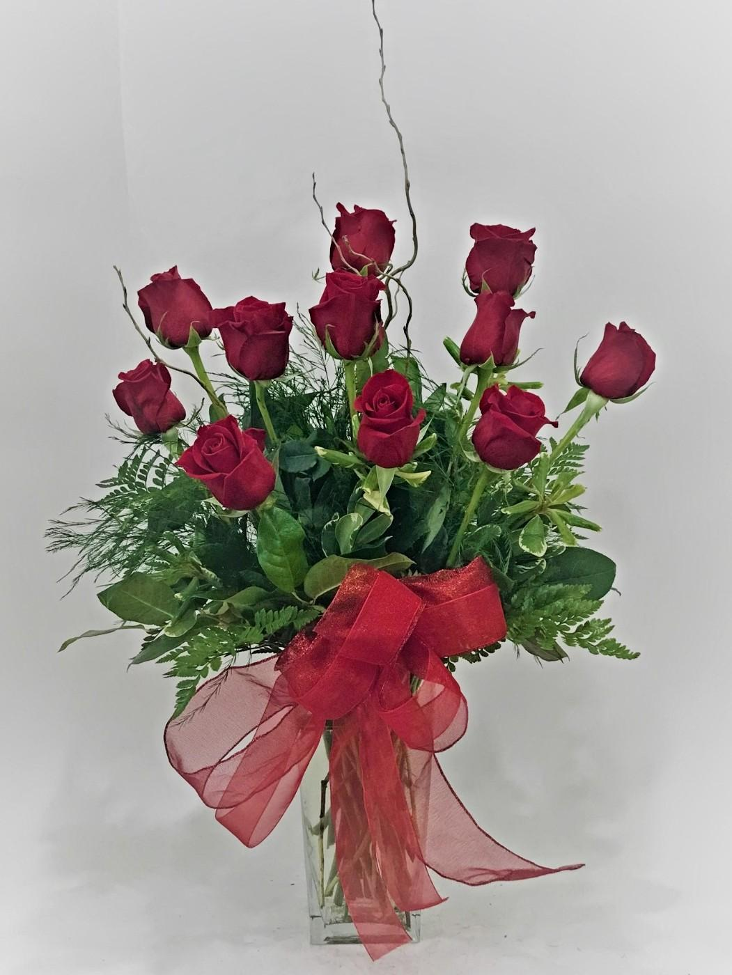 One Dozen Premium Rose Flower Arrangement
