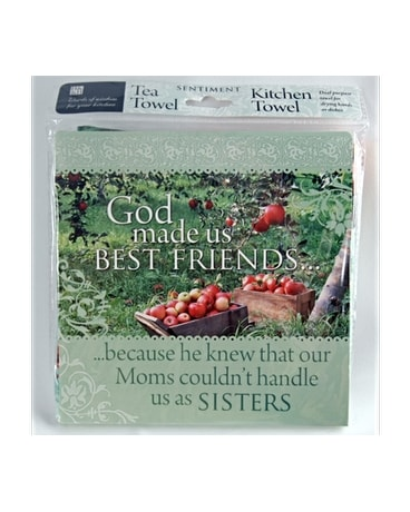Tea Towel - God Made Us Friends