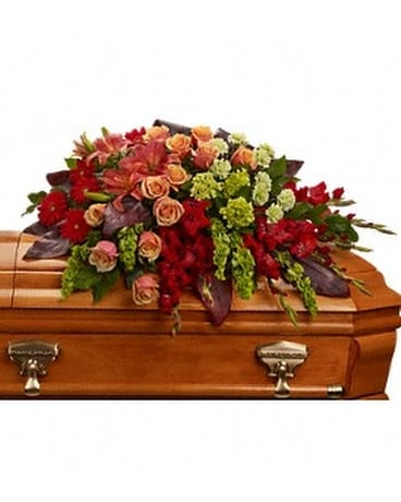 A Fond Farewell Casket Spray Flower Arrangement