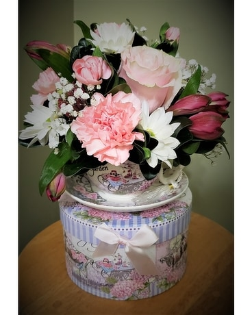 Floral Tea Party Flower Arrangement