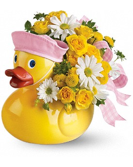 Teleflora's Ducky Delight - Girl Flower Arrangement