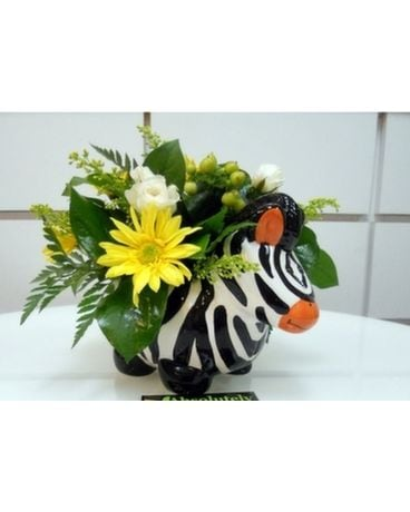 Sunny Zebra Flower Arrangement