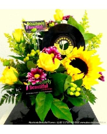 Rock 'N' Roll Celebration Flower Arrangement