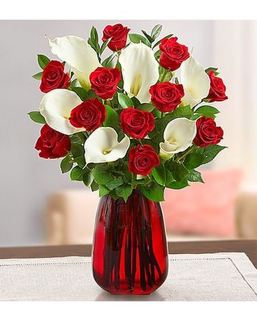 Rose Calla Bouquet Flower Arrangement