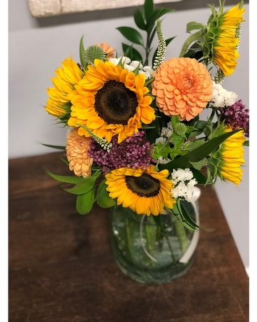 Summer Seedglass Flower Arrangement