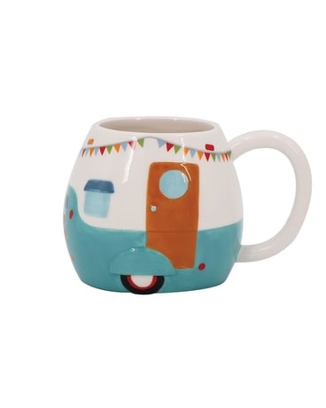 Happy Camper Embossed Mug 16oz Gifts