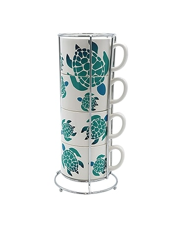 Ombre Sea Turtle Stacking Mug Set Gifts