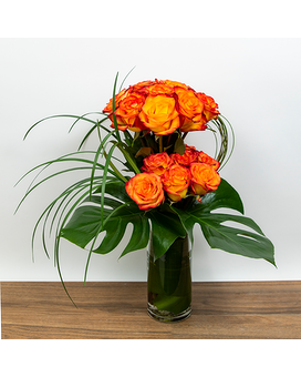 Exotic Rose Display Flower Arrangement