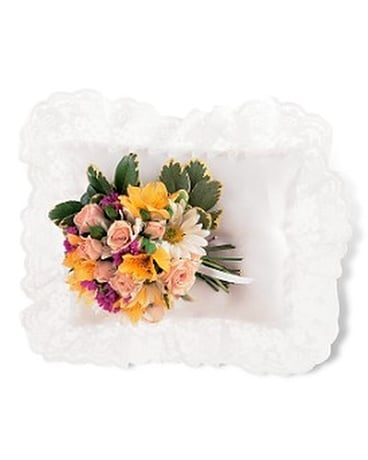 Spring Satin Pillow Cluster - by Leary's Florist Flower Arrangement