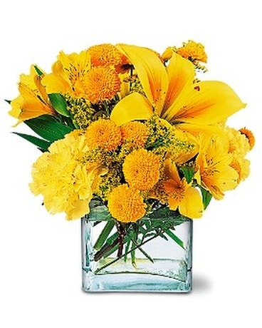 Sunshine Thoughts - by Leary's Florist Flower Arrangement