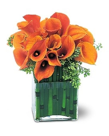 Bronze Callas Flower Arrangement