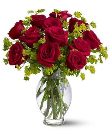 Teleflora's Dozen Sweet Roses Flower Arrangement