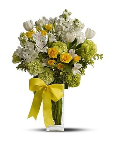 Teleflora's Spring for Joy - Flower Arrangement