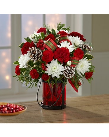 Retro Christmas Flower Arrangement