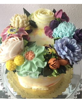 Spring flower cake Custom product