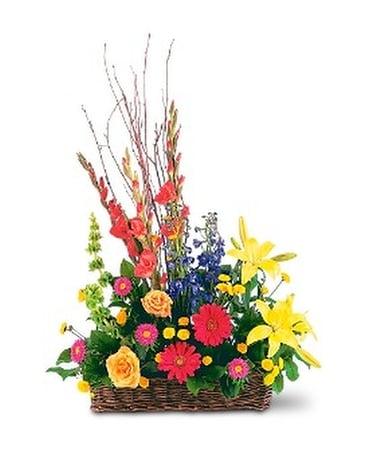 Quick view Sunshine Basket by Petals & Stems (TF203-11) Flower Arrangement