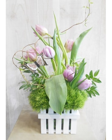 Picket Fence(P&S020) Flower Arrangement